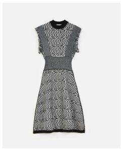 Stella McCartney Multicolour Patterned Midi Dress, Women's, Size 14