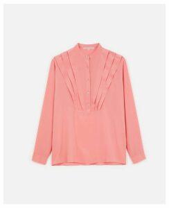Stella McCartney Pink / Papaya Silk Crepe de Chine Shirt, Women's, Size 12
