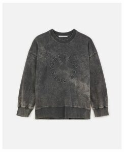 Stella McCartney Black Logo Sweatshirt, Women's, Size 14