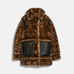 Coach Signature Shearling Coat