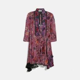 Coach Asymmetrical Dress With Kaffe Fassett Print