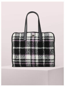 Morley Plaid Large Tote - Black Multi - One Size