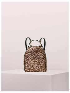 Amelia Metallic Leopard Mini Convertible Backpack - Rose Gold Multi - One Size