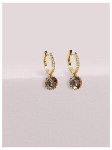 That Sparkle Pavé Huggies - Black Diamond - One Size