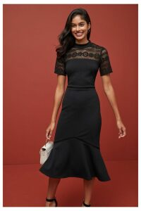 Womens Next Black Lace Bodycon Dress -  Black