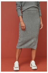 Womens Next Grey Pencil Skirt -  Grey