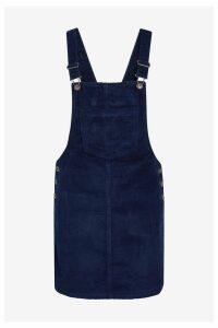 Womens Next Navy Cord Pinny Dress -  Blue