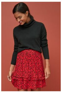 Womens Next Red Animal Flippy Skirt -  Red