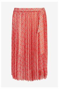 Womens Next Red Check Mesh Midi Skirt -  Red