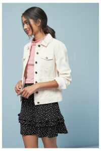 Womens Next Black/White Spot Flippy Skirt -  Black