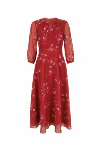 Womens Hobbs Red Samantha Dress -  Red