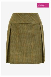 Womens Joules Green Aggie Mrtoad Tweed A-Line Skirt -  Green
