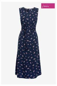Womens Joules Blue Amaris Woven Tie Knot Dress -  Blue