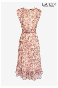 Womens Lauren Ralph Lauren Floral Alastair Midi Dress -  Pink