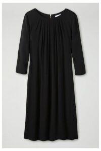 Womens Pure Collection Black Pleat Detail Dress -  Black