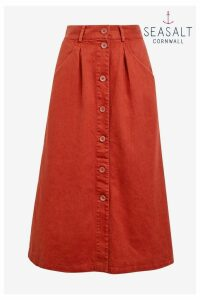 Womens Seasalt Red Screen Test Umber Skirt -  Red