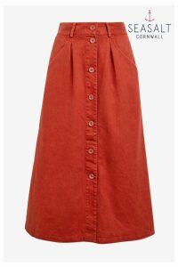 Womens Seasalt Red Screen Test Umber Skirt -  Red