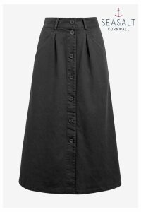 Womens Seasalt Petite Grey Screen Test Skirt -  Grey