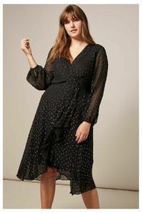 Womens Studio 8 Black Elodie Spot Dress -  Black