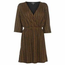 Golddigga  Metallic Wrap Dress Ladies  women's Dress in Brown