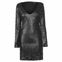 Golddigga  Sequin Dress Ladies  women's Dress in Black