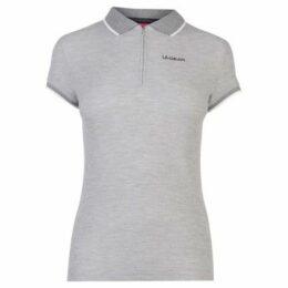 L.A. Gear  Tipped Polo Shirt Ladies  women's Polo shirt in Grey