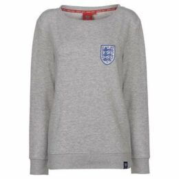Fa  England Crew Neck Sweatshirt Ladies  women's Sweatshirt in Grey