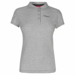 L.A. Gear  Pique Polo Shirt Ladies  women's Polo shirt in Grey