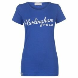 Hurlingham Polo 1875  Milly Graphic T Shirt  women's T shirt in Blue