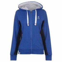 Hurlingham Polo 1875  Lorna Zip Hoody Ladies  women's Sweatshirt in Blue