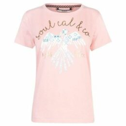 Soulcal  Fashion Luxe T Shirt Ladies  women's T shirt in Pink