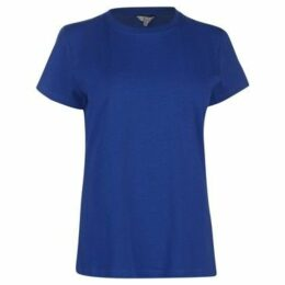 Rock And Rags  Crew T Shirt Ladies  women's T shirt in Blue