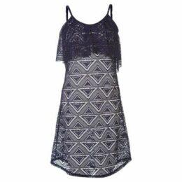 Rock And Rags  Mesh Beach Dress Ladies  women's Tunic dress in Blue