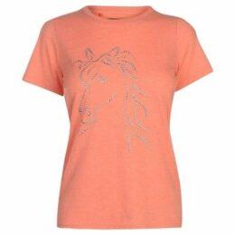 Requisite  Sequin Horse T Shirt  women's T shirt in Pink