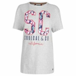 Soulcal  Fashion Logo T Shirt Ladies  women's T shirt in Grey