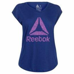 Reebok Sport  Logo T Shirt Ladies  women's T shirt in Blue