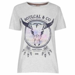 Soulcal  Fashion Luxe T Shirt Ladies  women's T shirt in Grey