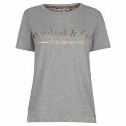 Soulcal  Fashion Luxe T Shirt Ladies  women's T shirt in Grey