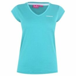 L.A. Gear  V Neck T Shirt Ladies  women's T shirt in Blue