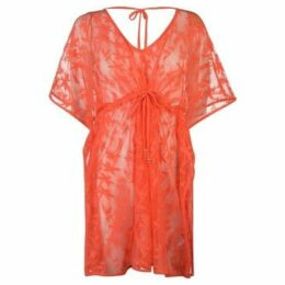 Soulcal  Mesh Kaftan Ladies  women's Tunic dress in Orange