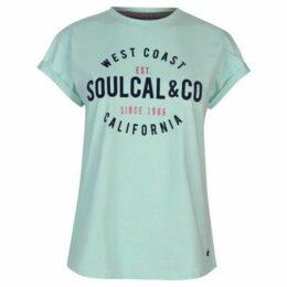 Soulcal  Logo T Shirt Ladies  women's T shirt in Green
