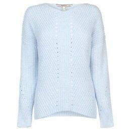 Soulcal  Pointelle Chenille Jumper Ladies  women's Sweater in Blue