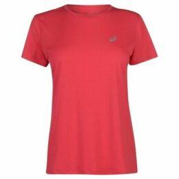 Asics  Short Sleeve Running T Shirt Ladies  women's T shirt in Pink