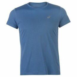 Asics  Short Sleeve Running T Shirt Ladies  women's T shirt in Blue