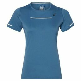 Asics  Lite Show Short Sleeve Top Ladies  women's T shirt in Blue