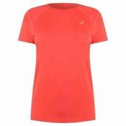 Asics  Seamless Running T Shirt Ladies  women's T shirt in Pink