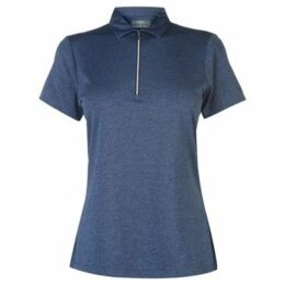 Callaway  Short Sleeve Heathered Polo Ladies  women's Polo shirt in Blue