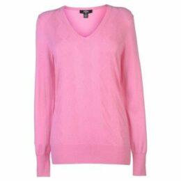 Callaway  Argyle Sweater Ladies  women's Sweatshirt in Pink