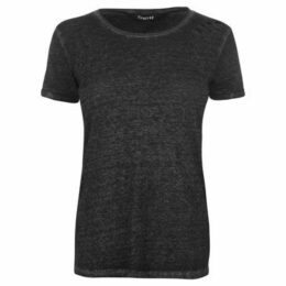 Firetrap  Blackseal Distressed Burnout T Shirt  women's T shirt in Black