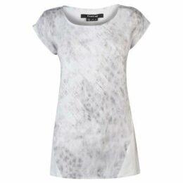 Firetrap  Drop Graphic T Shirt Ladies  women's T shirt in White